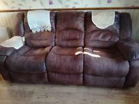 Brown 3 Piece Suite