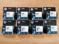 HP Ink Cartridges x8 301 901
