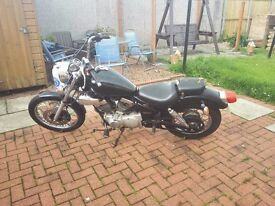 Yamaha virago 125 last on road 2011 just been moted low miles starts and runs well