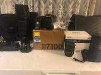 Nikon d7100 , sigma 18-35 1.8, sigma 50-150mm 2.8, Nikon 10.5mm fish eye