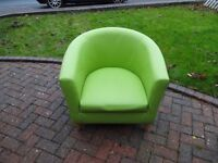 Green comfy chair for sale.