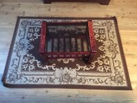 Living room carpet with tea table