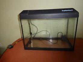 Tropiquarium 55 Glass fish tank with integrated light etc