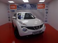 Nissan Juke TEKNA DCI(£20.00 ROAD TAX) FREE MOT'S AS LONG AS YOU OWN THE CAR!!! (white) 2014