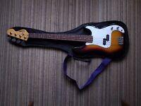 Bass Guitar and practice amplifier