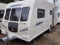 2011 Bailey Pegasus 514 4 Berth Side Dinette End Washroom Caravan with Motor Mover