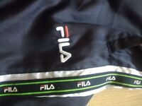 Fila Retro vintage tracksuit bottoms small