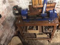 Record RPML 300 Lathe w/ Chucks, Tools And Stand