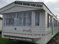 BOOK NOW FOR £25: BOUNTY: MARINE HOLIDAY PARK, RHY: SLEEPS 6 MAX, NO PETS