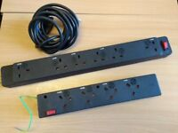 Underdesk Power Modules with Master Switch ( 4 and 6 sockets) Extension Lead
