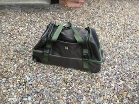 Canvas pullalong suitcase