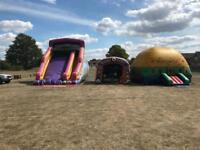 Inflatable bouncy castle moon walk