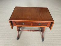 Regency Style Small Table with Drop Leaf Sides