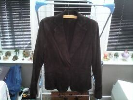 DOROTHY PERKINS CHOCOLATE SUEDE SIZE 12 COAT