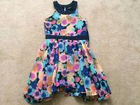 Girls Floral Summer Dress Aged 6-7yrs, 122-128cms