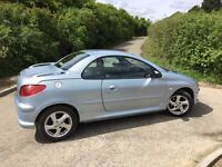 Fabulous Peugeot 206 Allure Convertible in Moonstone with black leather interior