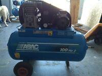 ABAC 2HP 100LTR COMPRESSOR 415v {3 PHASE}