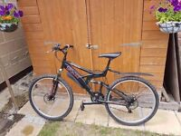 Trax Double Suspension and Double Disc Brake Mountain Bicycle Very Good Condition