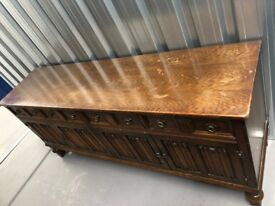 Old Large Wooden Sideboard