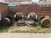 Double set Oak Garden Furniture.