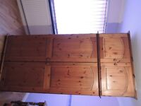 Double Wardrobe With Top Box