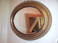 Large elliptical wall mirror