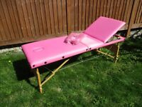Pink Serenity Beauty Portable Massage Table Couch Bed
