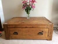Large solid wood trunk / coffee table