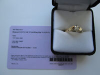 0.33 ct 14ct YGLD Diamond Ring size N with sertificate