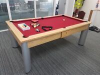 Contemporary Pool Dining Table 7ft (Slate bed)