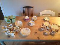 selection of vintage crockery