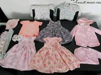 Bundle of girls 9-12months clothing