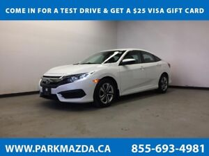 2017 Honda Civic Sedan LX FWD - Bluetooth, Backup Cam, Heated Fr