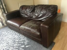 Shabby sofa for sale - includes free throw