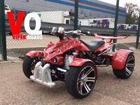Viper 350F1 SuperSnake, Red spider web, Road legal quad bikes, 2017, Spyracing F1