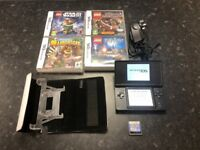 Nintendo DS Lite Black with 5 games