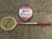 Vintage Slazenger 'The Dart' Squash Racket with Fabric Grip