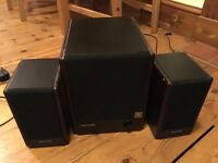 Micro lab speakers and sub woofer
