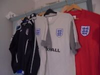 Football shorts and England football kit