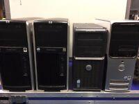 Job lot 4x Desktop PCs - 2x HP xw8400 + DELL Optiplex 210L + DELL Dimension 9200