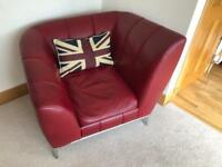 Free red leather chair