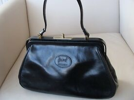 Ladies leather handbags from designer 'Carriage' collection - one dark tan & one black