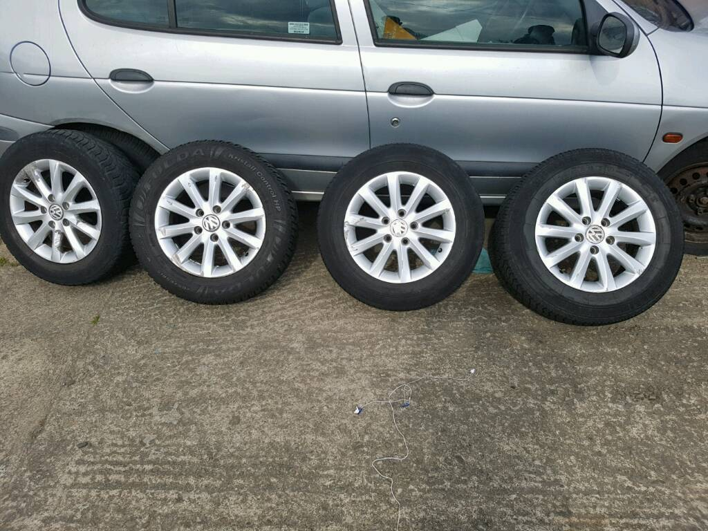 VW Golf Mk5 16'' Alloy Wheels & Tyers