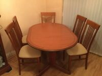 William Morris Extending Dining Table + 6 Chairs