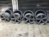 Audi A3 A5 A6 A7 s4 s5 S6 S7 alloys with tyre