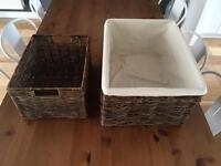 Wicker storage baskests from Lombok