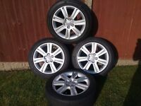 Audi A4 B8 wheels with tyres.