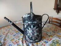 Barge art style painted watering can