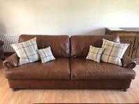 Large Brown Leather Sofa (John Lewis)