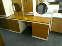 Retro dressing table with 2 round mirrors #32524 £39